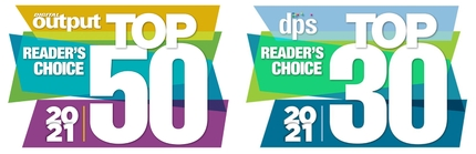 Epson Named a 2021 Digital Output Top 50 and DPS Magazine Top 30 Readers' Choice Award Winner