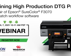 Epson to Host High Production Direct-to-Garment Printing Virtual Event