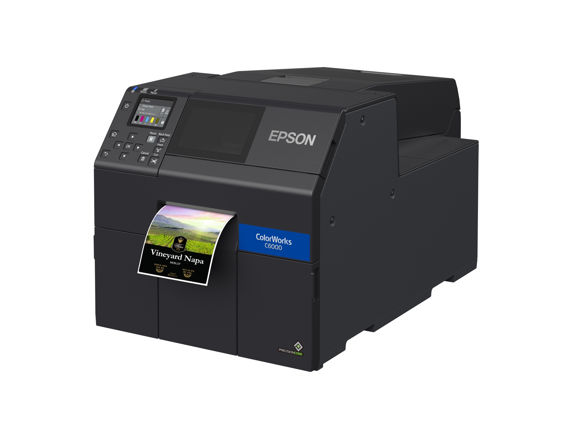 Epson ColorWorks C6000A 4-Inch Color Inkjet Label Printer with Auto Cutter