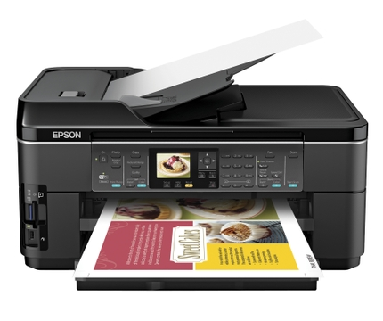Epson WorkForce WF 7510 All-in-One Printer front HO LIP open