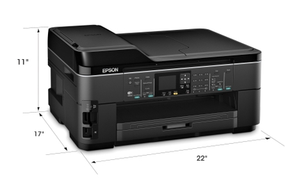 Epson WorkForce WF 7510 All-in-One Printer measurement