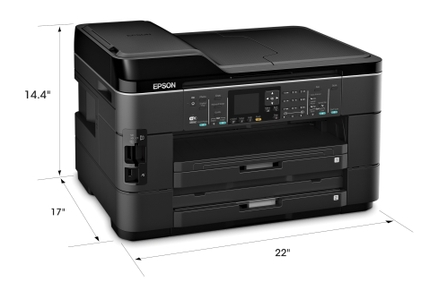 Epson WorkForce WF-7520 All-in-One Printer angle measure