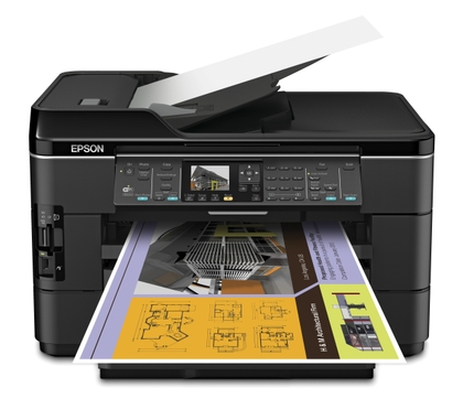 Epson WorkForce WF-7520 All-in-One Printer Ho tray open