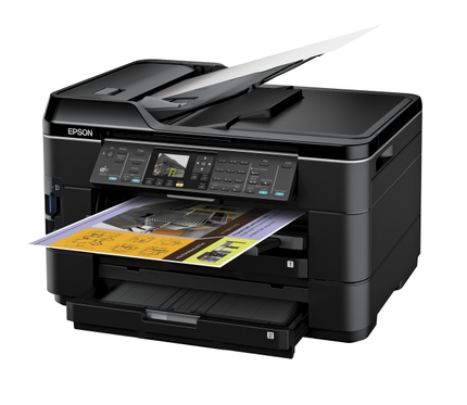 Epson WorkForce WF-7520 All-in-One Printer left angle