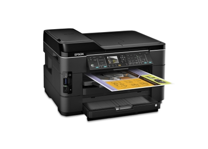 Epson WorkForce WF-7520 All-in-One Printer right angle
