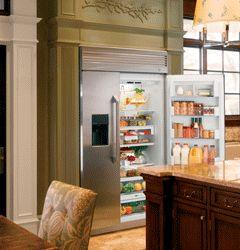 GE Monogram built-in side-by-side refrigerator