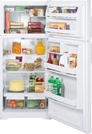 GE top-freezer refrigerator manufactured in Decatur, Ala.
