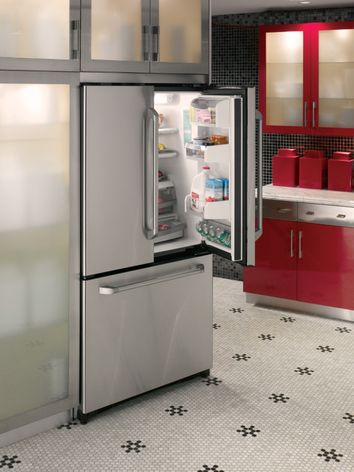Ge Cafe 207 Cu Ft Counter Depth French Door Refrigerator Ge
