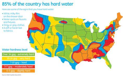 Water Hardness Map U.S. Water Hardness Level Map | GE Appliances