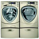 GE Profile™ laundry pair with Overnight Ready