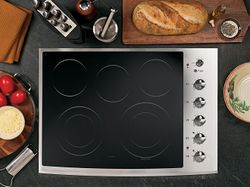 ge profile electric cooktop model pp944stss
