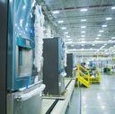 GE French door refrigerator production line
