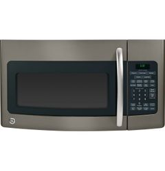 GE® microwave with Slate finish (Model JVM1750EPES)