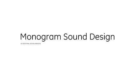 GE Monogram® Soundtrack