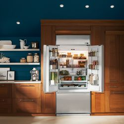 Luxurious Materials Define GE's First Monogram®  French Door Built-In Refrigerator