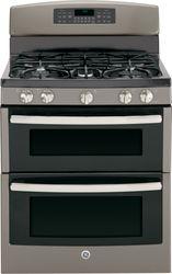 Slate Free-Standing Gas Double Oven Range (Model JGB850EEFES)