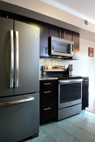Slate Kitchen Appliances Dark Wood
