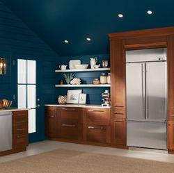 GE Monogram® Dishwasher and French Door Built-In Refrigerator
