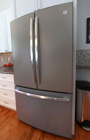 Genial GE Profile™ Counter Depth French Door Refrigerator In Slate (PWE23KMDES)