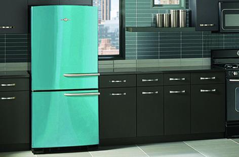Ge S Artistry Refrigerator In Cupcake Blue Ge Appliances
