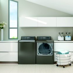 "Diminish ""Laundry Lag"": Use Your Smartphone to Stay on Top of Laundry Mountain with GE's New High-Efficiency Washer and Dryer"