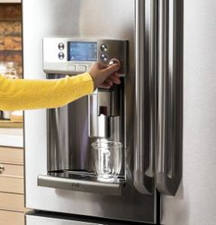 GE Café French door refrigerator with Keurig® K-Cup® single cup brewer