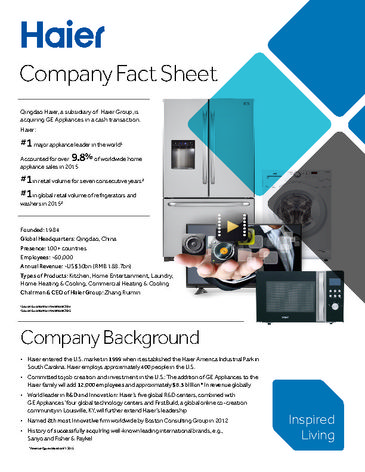 Haier Fact Sheet