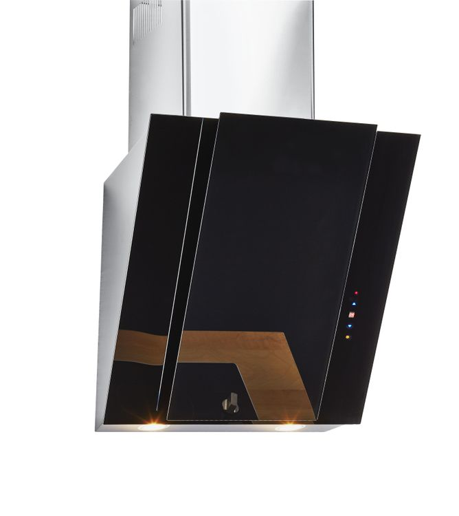 "24"" Black Glass Slanted Hood, HCH2400ACB"