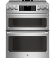 GE Café™ Electric Double Oven Front Control Slide-in Range