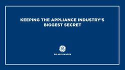 Keeping the Appliance Industry's Biggest Secret