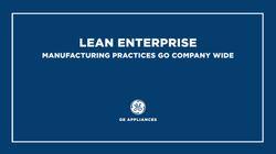 Lean Enterprise: Manufacturing practices go company wide