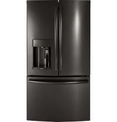 Black Stainless GE Profile Refrigerator (Model PFE28PBLTS)