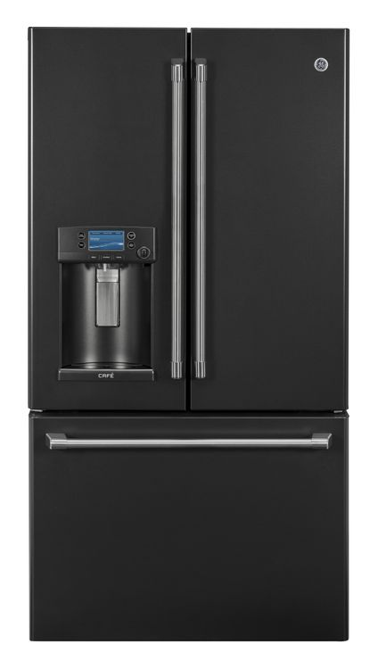 Black Slate GE Cafe Refrigerator (Model CFE28UELDS)