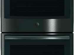 Black Stainless GE Profile Double Wall Oven