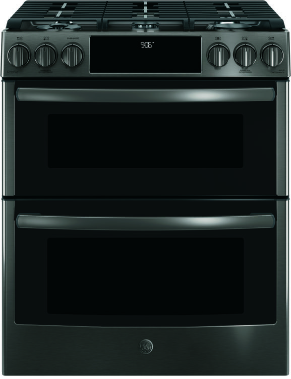 Black Stainless GE Profile Slide-In Range