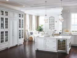 White Monogram Kitchen