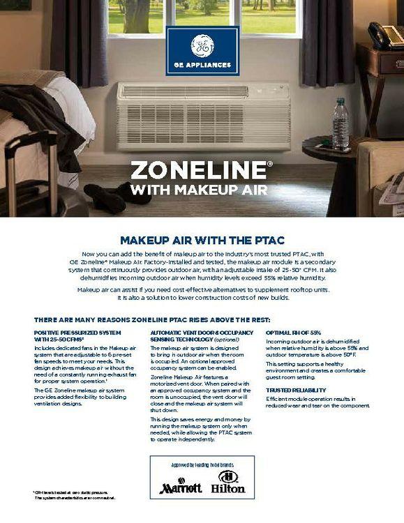Zoneline Makeup Air Specs