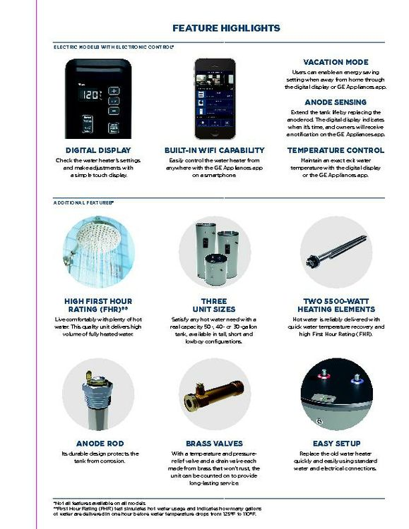 GE Appliances Electric Water Heater Brochure_January 2019