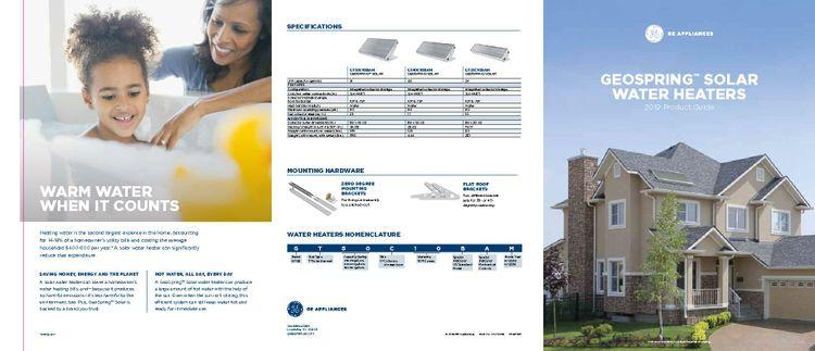 GE Appliances Solar Water Heaters Brochure_January 2019