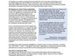 GE Appliances Smart Home Backgrounder