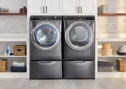 GE UltraFresh Front Load Washer and Dryer in Diamond Gray