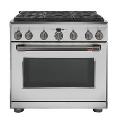 Stainless All Gas Range_Brushed Black