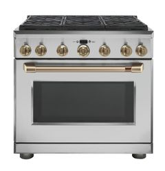 Stainless All Gas Range_Brushed Bronze