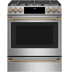 Stainless Convection Range_Brushed Bronze