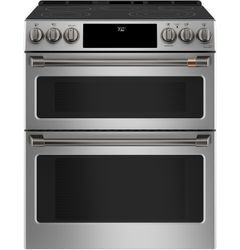 Stainless Double Oven Range_Brushed Black