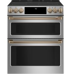 Stainless Double Oven Range_Brushed Bronze