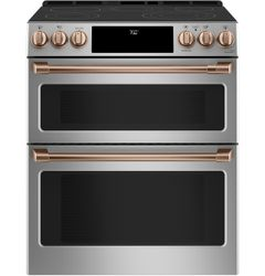 Stainless Double Oven Range_Brushed Copper