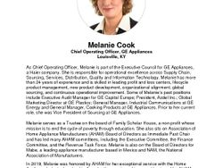 Melanie Cook Bio