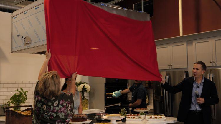 GEA CEO Kevin Nolan and Logan Street Market Founder Medora Safai Reveal Kitchen Logo