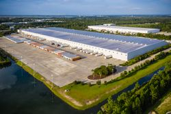 Exterior of GE Appliances Smart Distribution Center Docks in Jacksonville, FL